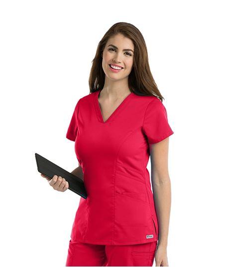 Grey's Anatomy Women's Marquis V-Neck Stretch Scrub Top-41452