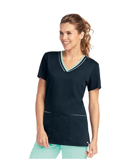 Grey's Anatomy Active Women's Contrast Trim V-Neck Scrub Top-41466