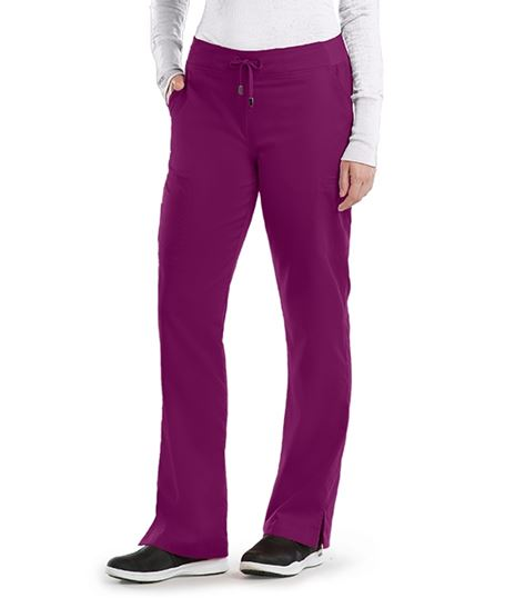 Grey's Anatomy Women's 6 Pocket Straight Leg Cargo Scrub Pants-4277