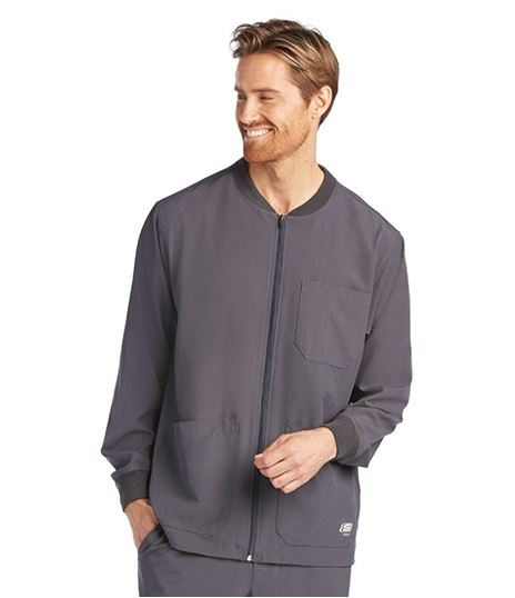 Skechers Men's Structure Zip Front Warm Up Scrub Jacket-SK0408
