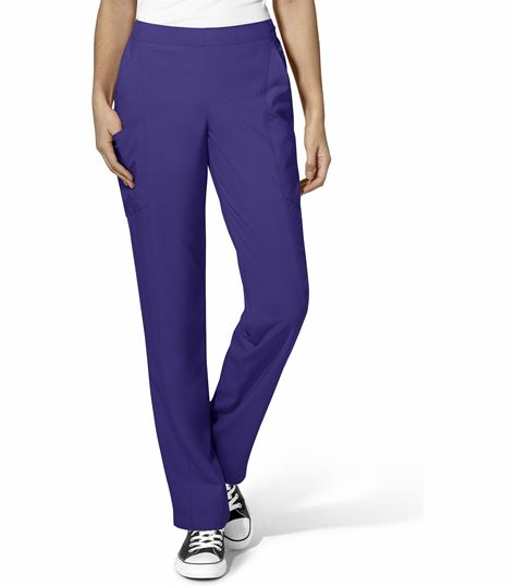 WonderWink 123 Women's Elastic Pull On Cargo Scrub Pants-5155
