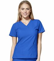 WonderWink 123 Women's Basic Solid V-Neck Scrub Top-6255