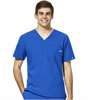 WonderWink 123 Men's V-Neck Solid Scrub Top-6355