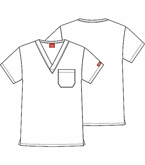 963d265a7f0 Dickies Unisex V-Neck Scrub Top-83960 | Medical Scrubs Collection