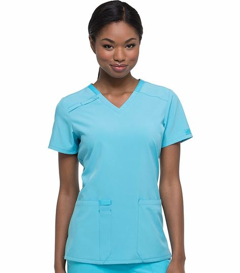 Dickies EDS Women's Scrubs 3 Pocket V-Neck Scrub Top-DK615