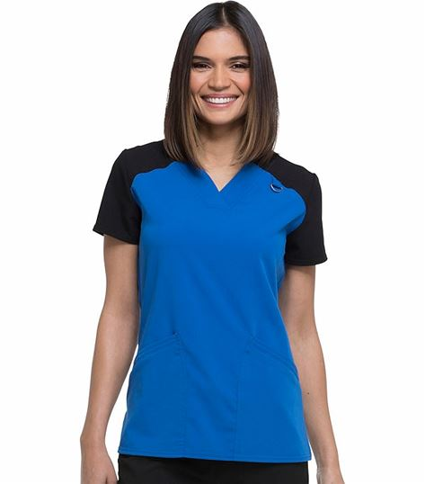 Dickies Xtreme Stretch Contrast V-neck Top DK655