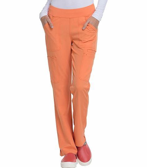 HeartSoul Women's  Elastic Waist Pull On Cargo Scrub Pants-HS020