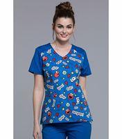 Tooniforms Women's Hello Kitty V-Neck Scrub Top-TF624