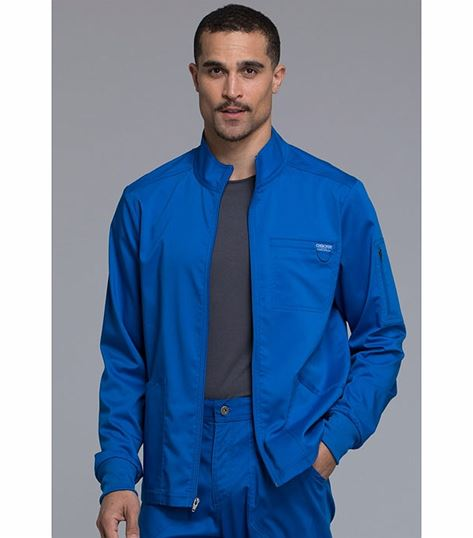 Cherokee Workwear Revolution Men's Zip Front Medical Scrub Jacket-WW320