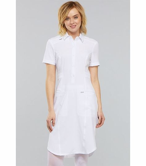 Cherokee Infinity Button Front Nurse Scrub Dress-CK510A