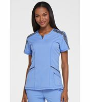 Dickies Dynamix Women's Split-Neck Scrub Top-DK665