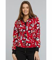 Tooniforms Disney Women's Zip-Up Hello Kitty Warm-Up Scrub Jacket-TF301