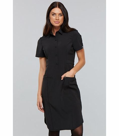 Cherokee Infinity Button Front Nurse Scrub Dress-CK510A
