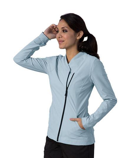 Grey's Anatomy Impact Women's Sorona Asymmetric Zip Warm Up Scrub Jacket-7445