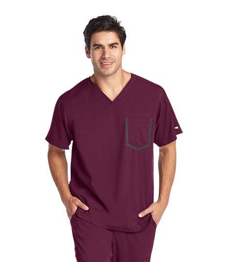 Grey's Anatomy Impact Men's Ascend 3 Pocket Stretch Scrub Top-0118
