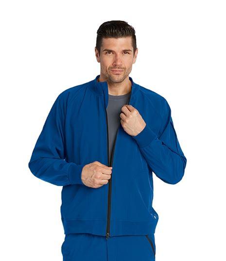 Barco One Men's 3 Pocket Bomber Zip Up Warm Up Scrub Jacket-0405