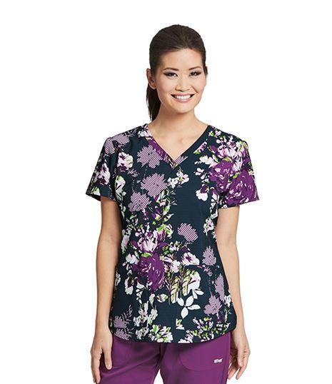 Grey's Anatomy Women's Printed V-Neck Scrub Top-41386