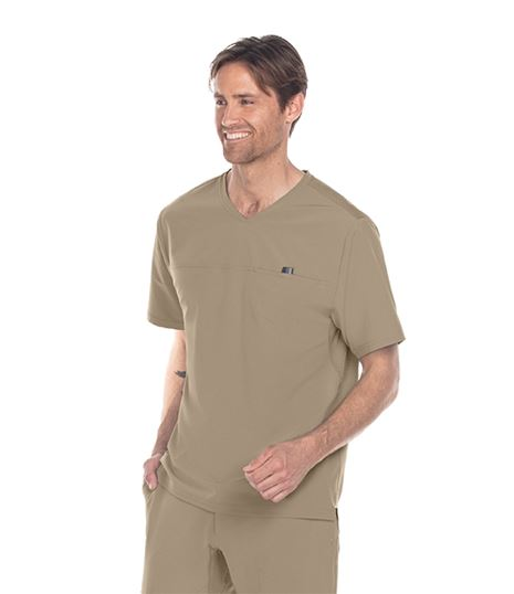 Barco One Wellness Men's  Velcro Pocket Scrub Top- BWT010