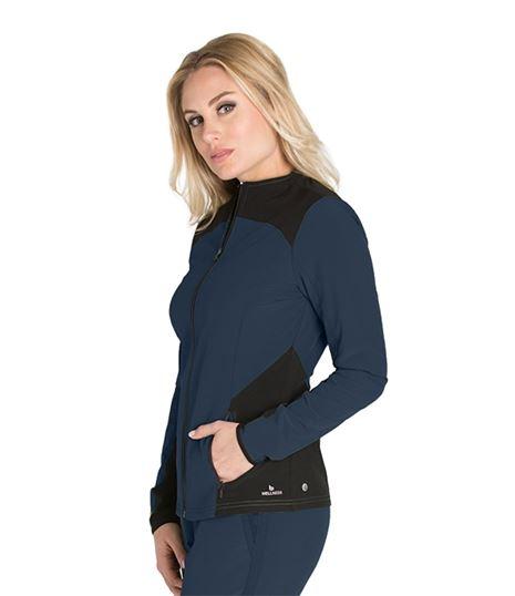 Barco One Wellness Women's Color Block Warm-Up Scrub Jacket-BWW901