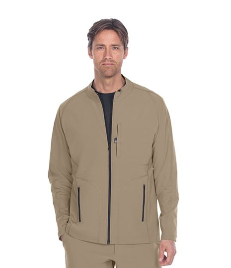 Barco One Wellness Men's Zip Up Warm-Up Scrub Jacket-BWW902