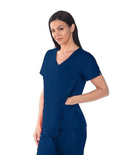 Grey's Anatomy Signature Women's Asymmetrical Scrub Top- GNT004