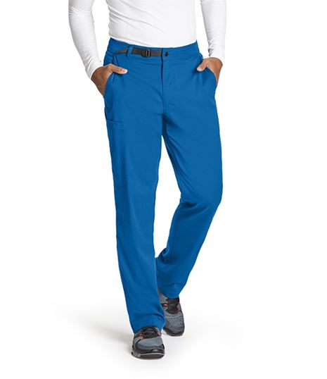 Grey's Anatomy Spandex Stretch Men's Belted Cargo Scrub Pants-GRSP507