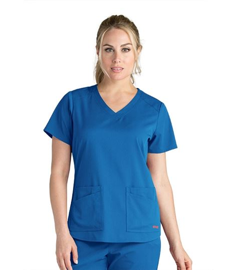 Grey's Anatomy Spandex Stretch Women's 4 Pocket Scrub Top-GRST011