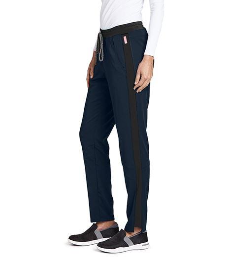 Grey's Anatomy Spandex Stretch Women's Color Block Scrub Pants-GVSP501