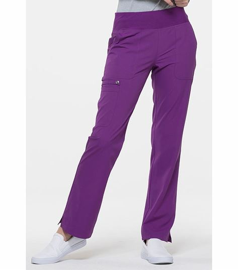 Elle Straight Leg Yoga Waist Pull-on Scrub Pant-EL130