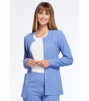 Elle Snap Front Warm-up Scrub Jacket-EL300