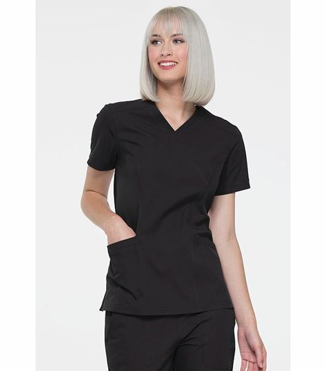 Elle Mock Wrap Scrub Top-EL620
