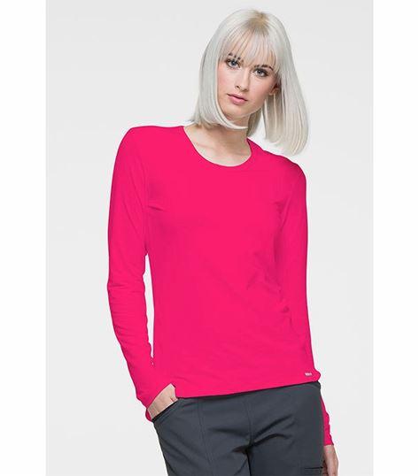 Elle Long Sleeve Underscrubs Knit Tee-EL915