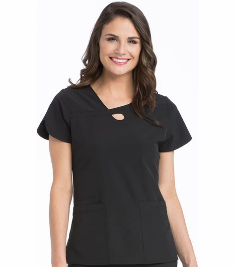 Med Couture 4-Ever Flex Women's Keyhole Neckline Impact Scrub Top-3408