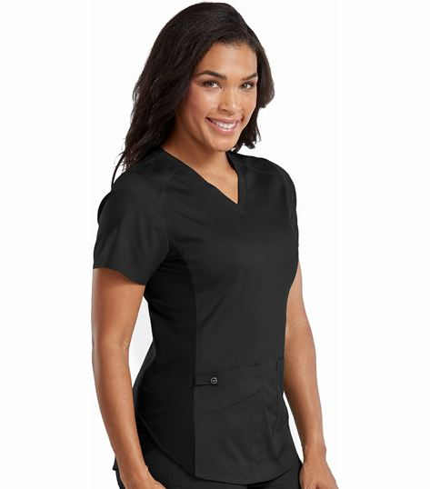 a2268bb0858 Med Couture Touch Women's V-Neck Shirttail Hem Kerri Top-7459   Medical  Scrubs Collection