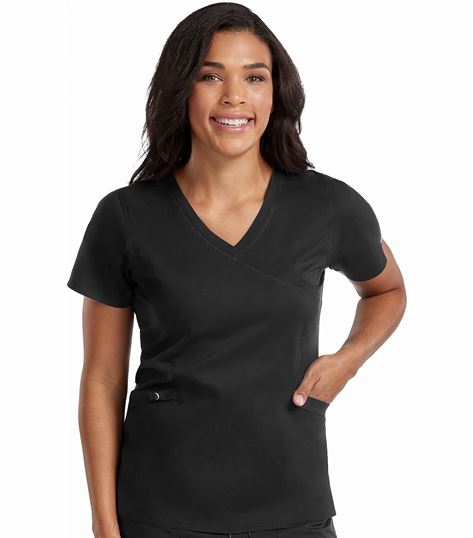 Med Couture Touch Women's Mock Wrap Venus Scrub Top-7472