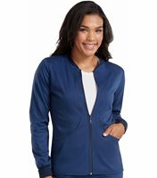 Med Couture Touch Women's Performance Zip-Front Warm Up-7663