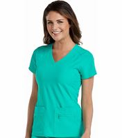 Med Couture Activate Refined Sport Knit Women's V-Neck Scrub Top-8416
