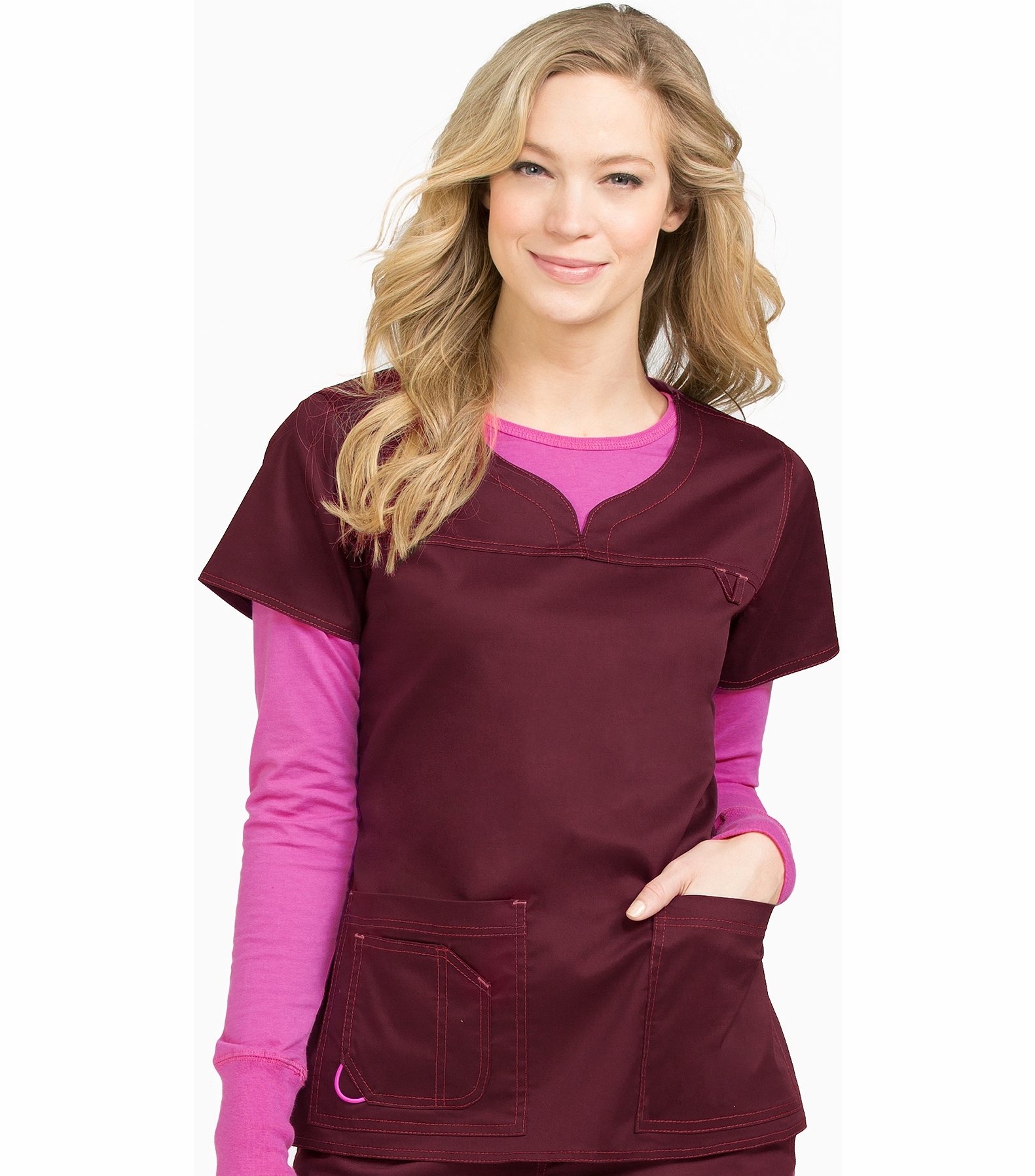 7fa0c40d881 Med Couture Mc2 Lexi Women's Sport Neckline Scrub Top-8489 | Medical Scrubs  Collection