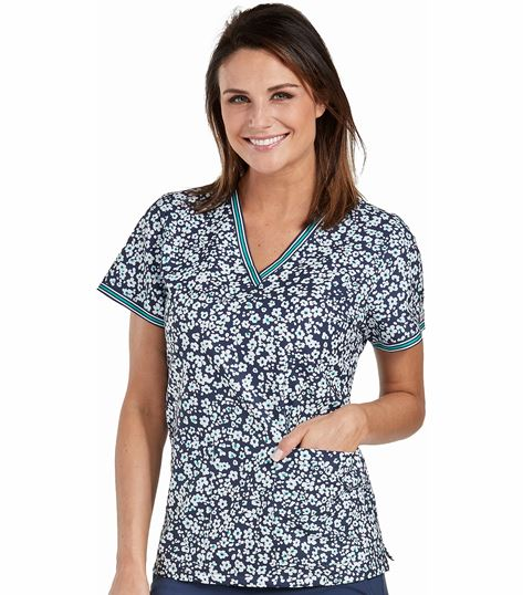 Med Couture Prints Women's Print Vicky Print Top-8506