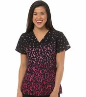 Med Couture Women's Print Valerie Print Top-8538
