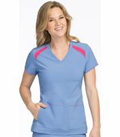 Med Couture Activate Women's V-Neck Color Block Scrub Top-8545
