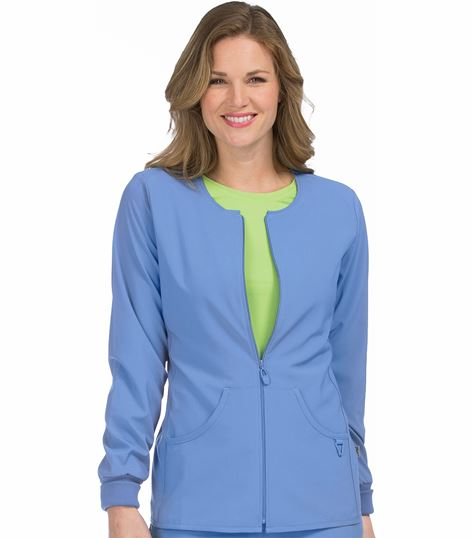 Med Couture Activate Women's Zip Front Warm Up Scrub Jacket-8638