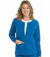 Med Couture Women's 2-Pocket Zip-Front Warm Up Scrub Jacket-8687