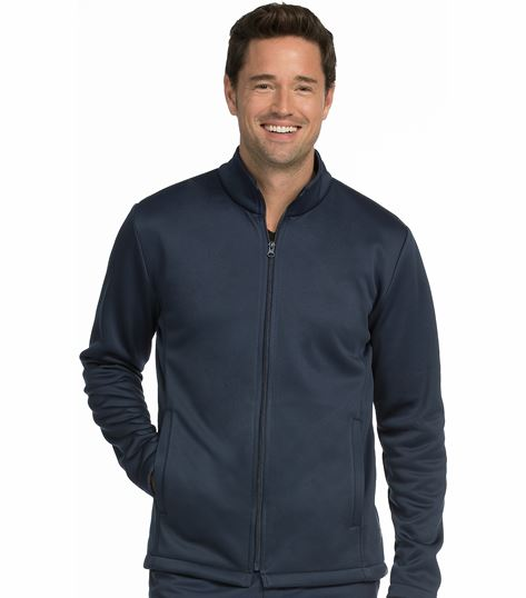 Med Couture Activate Men's Bonded Fleece Zip-Up Warm Up Scrub Jacket-8688