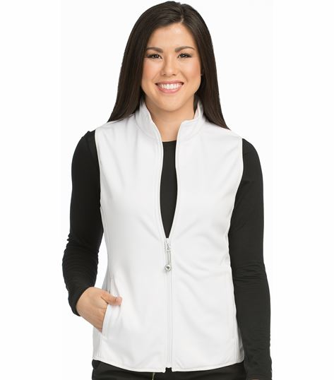 Med Couture Activate Women's Bonded Fleece Med Tech  Zip-Up Warm Up Scrub Vest-8690