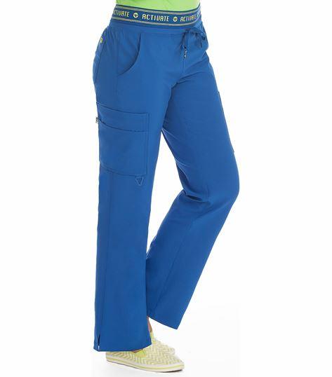 Med Couture 8758 Activate Flow Women's Logo Waist Cargo Scrub Pants