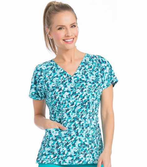 Med Couture Prints Women's Print Spirit Print Top-8585