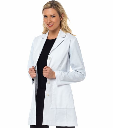 "Med Couture Boutique Women's Vivien 33"" White Lab Coat-9644"
