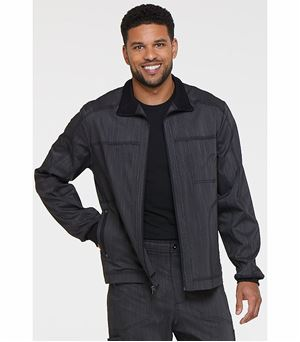 Dickies Advance Two Tone Twist Men's Zip Front Moto Scrub Jacket-DK315