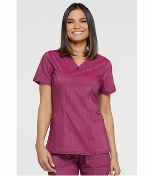 Dickies Advance Two Tone Twist Women's V-Neck  Scrub Top-DK680